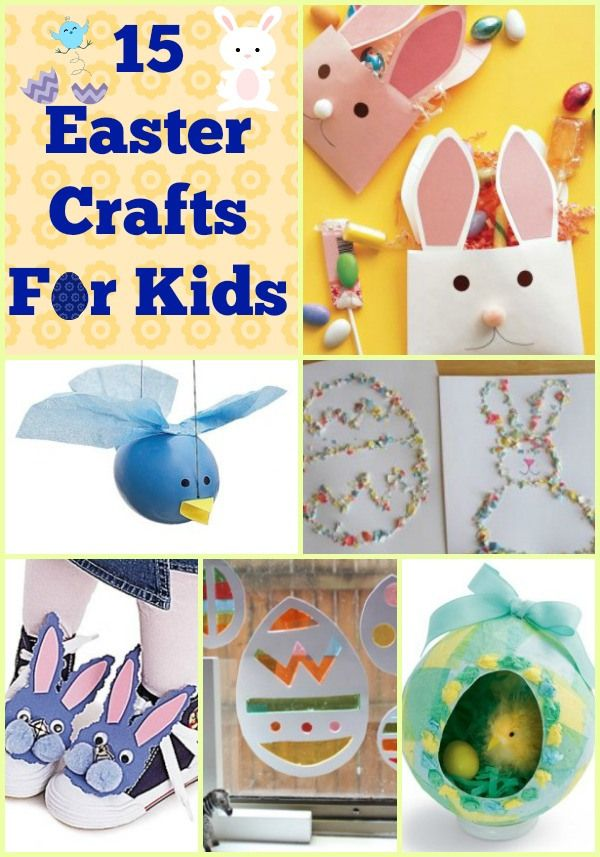 15 Easter Crafts For Kids!  Keep your little ones with busy with these great Easter crafts!