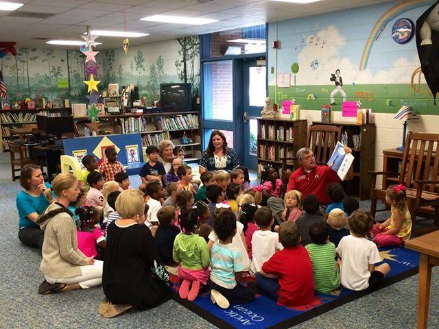 Photo: Here's State Representative Randy Nix (R-LaGrange) visiting Hillcrest Elementary School in Troup County for #GaPreKWeek.
