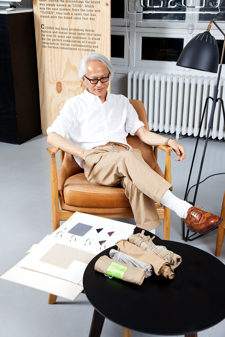 Hirofumi Kurino, co-founder and creative advisor of United Arrows Ltd., Tokyo in the new Chino.