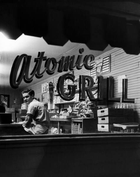 The Atomic Grill, the busiest restaurant in Paducah. Photograph by Ralph Crane. Paducah, Kentucky, May 1952.    -via legrandcirque