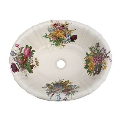 1000 Images About Floral Hand Painted Sinks Toilets On Pinterest