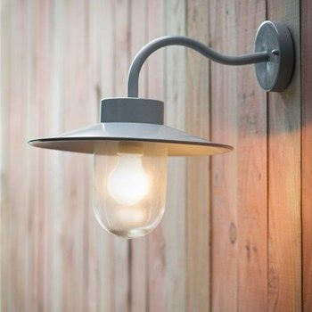 Traditional Swan Neck Outdoor Wall Light