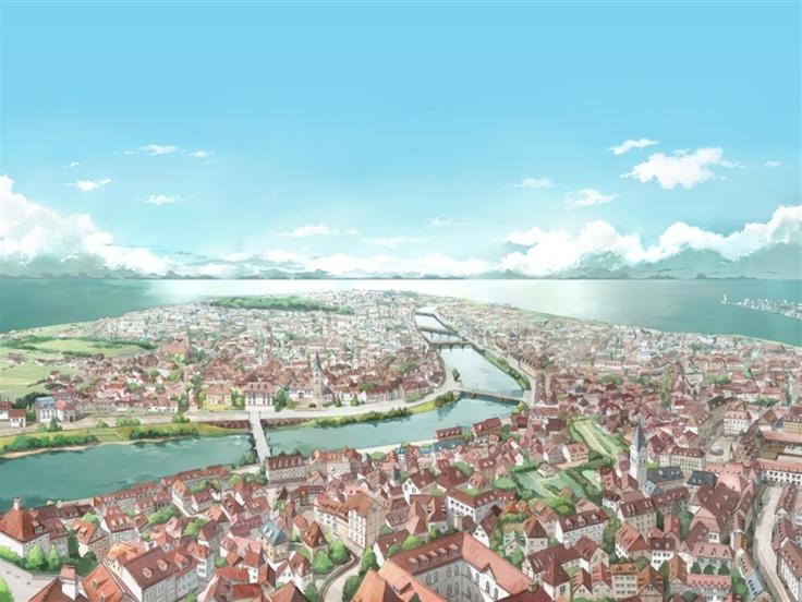 обои аниме пейзажей, Anime scenery wallpaper, 1024x768, 4:3