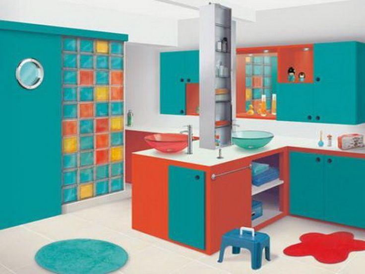Ecolorful Decor Colorful Backsplash Children Bathroom Decorating Ideas