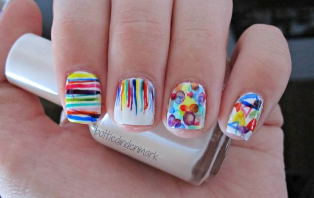 #31DC2015 #day9 Rainbow Nails