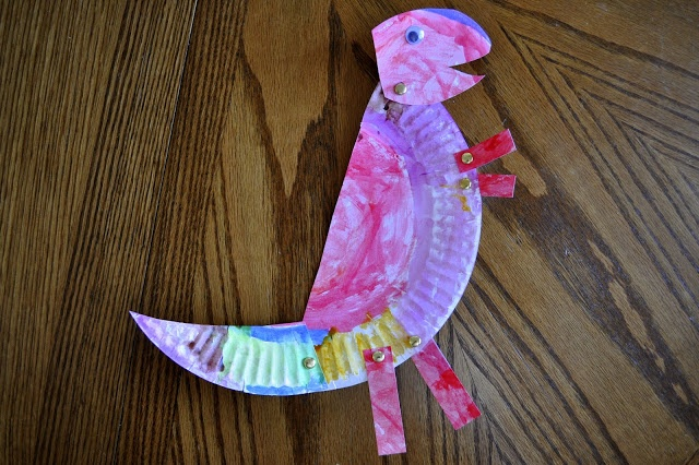 "How To: Paper Plate T-Rex from ""I Heart Crafty Things"" #Dinosaur #Preschool #Craft"