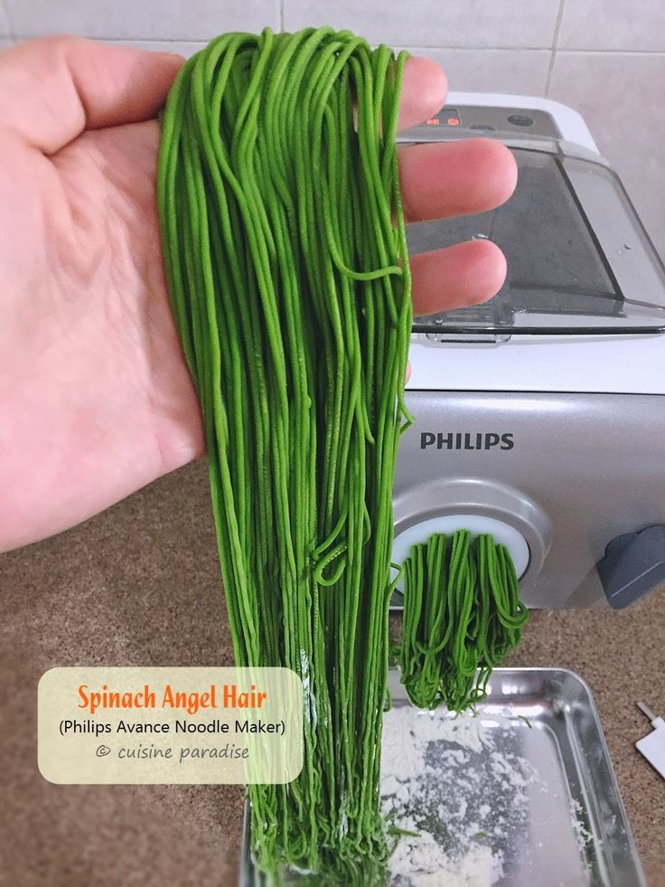 Cuisine Paradise | Singapore Food Blog | Recipes, Reviews And Travel: [3 recipes] Homemade Asian Noodle using Philips Avance Noodle Maker (HR2365/05) - Spinach Angel Hair