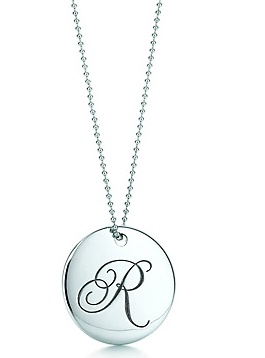 """tiffany & co necklace with my initial """"C"""""""