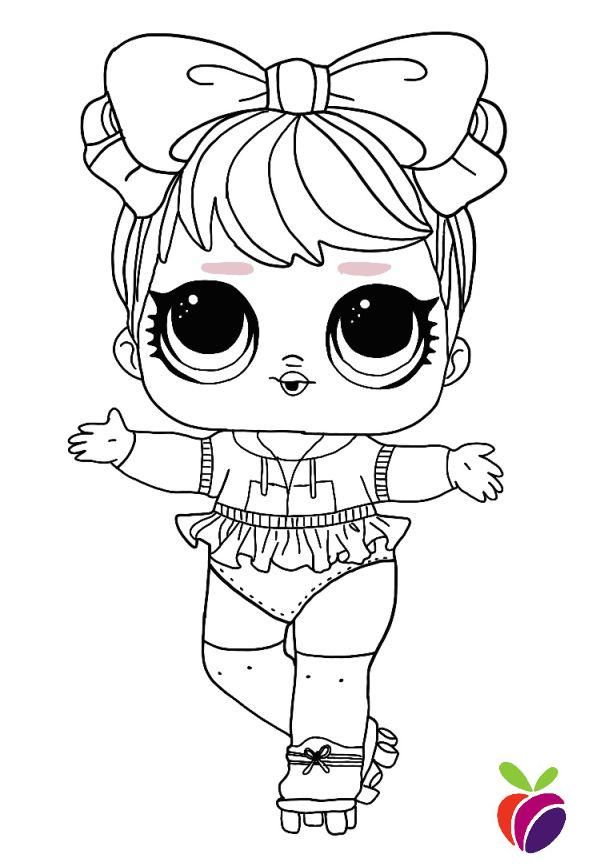 Lol Surprise Sparkle Series Coloring Page Dawn Cute Coloring Pages Unicorn Coloring Pages Free Coloring Pages