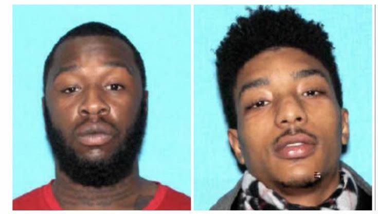Left to right:  Kyrell Raymond and Derrick Everson (Photo source: Detroit Police Department)