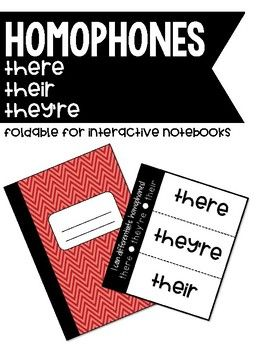 This foldable will glue into student journals easily and allows for students to focus on these three homophones: they're, their, and there.Students can write when to use each form on the top of the flap and write sample sentences using the form under the flap.