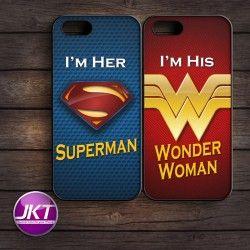 Couple 003 - Phone Case untuk iPhone, Samsung, HTC, LG, Sony, ASUS Brand #couple #phone #case #custom #superman #wonderwoman