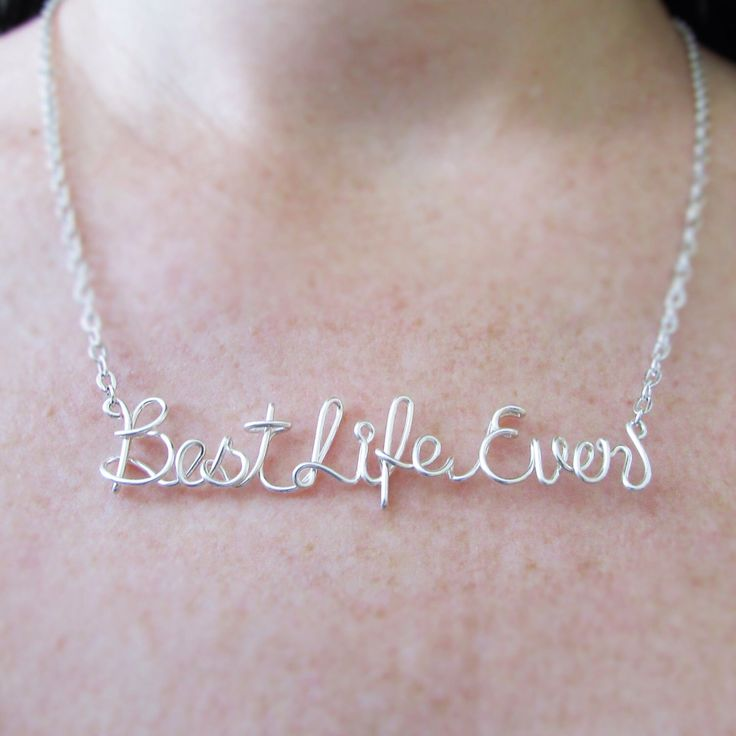 Best Life Ever Necklace, JW Gifts, Wire Wrapped Words, Christian Gift, Jewelry Gifts for JW, Gifts Under 30 by deannewatsonjewelry on Etsy https://www.etsy.com/listing/268049721/best-life-ever-necklace-jw-gifts-wire