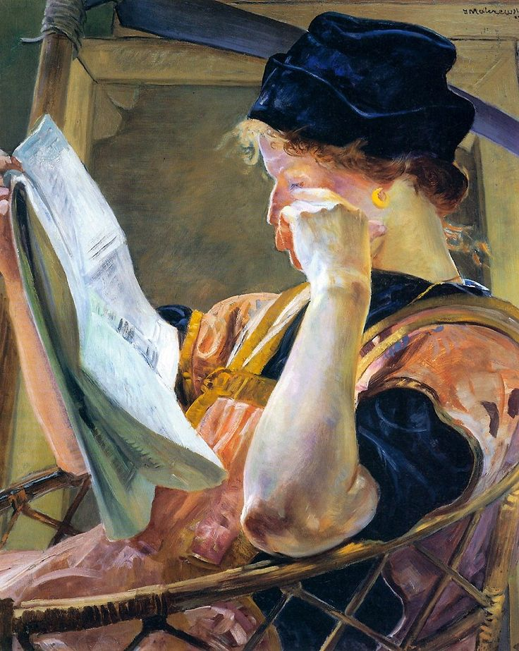 Jacek Malczewski (1854-1929), The Model (n.d.), oil.-- what color!