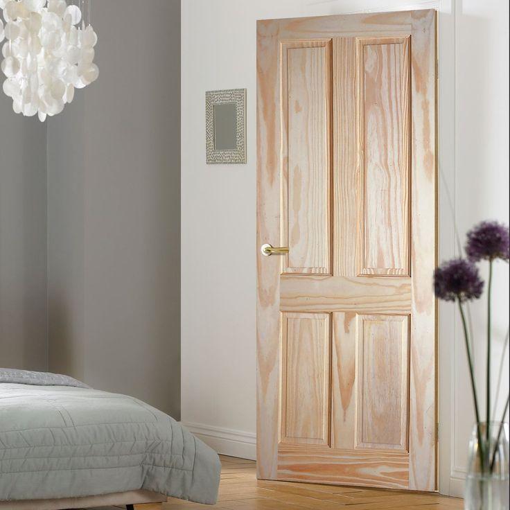 4 Panel Clear Pine Door | Traditional Interior Doors