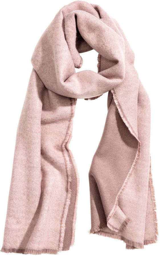 Light pink scarf in soft woven fabric on Shopstyle.