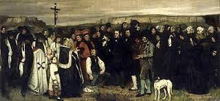 """""""Entierro en Ornans"""", Coubert. Año 1850, Museo de Orsay."""