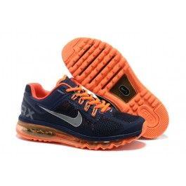 discover the discount nike air max 2015 mesh cloth mens sports shoes deep blue orange super deals co