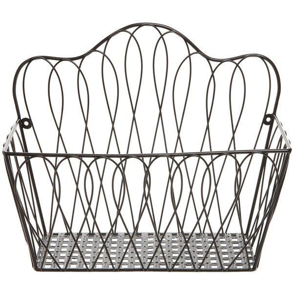 Best 25+ Wall mounted wire baskets ideas on Pinterest