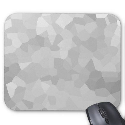 Modern Grayscale - Gray and White Polygon Shape Ab Mouse Pad - college dorm gifts student students accessories freshmen