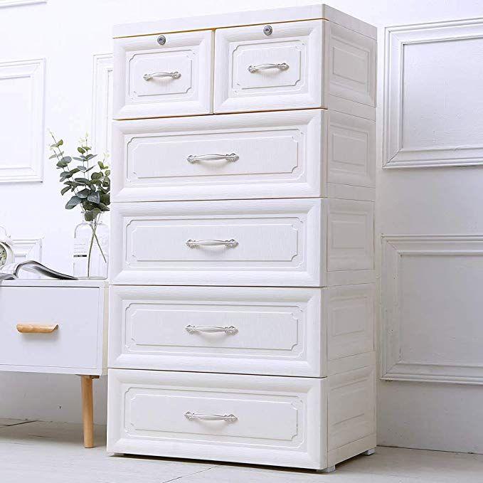 Nafenai 4 Drawer Dresser 2 Cabinets Large Size Storage Bins Drawer Type Storage Cabinet Multi St Bedroom Organization Storage Dresser Storage Dresser Drawers