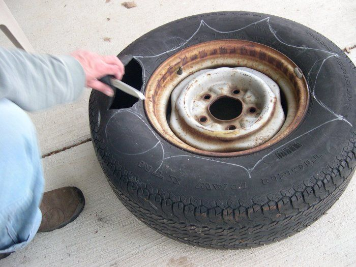 How to make a tire into a planter.... good husband project!
