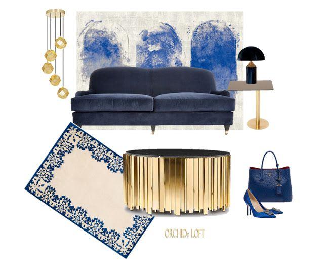 Orchids loft: Velvet Blue Couch | Samt, Blau Sofa