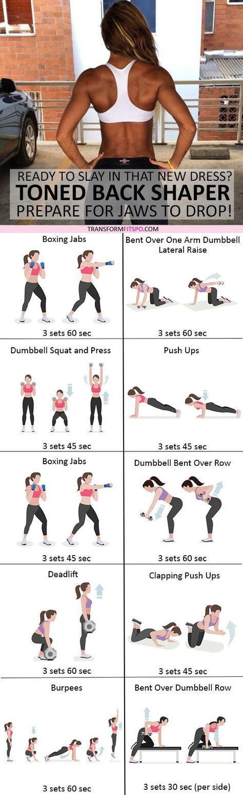 #womensworkout #workout #femalefitness Repin and share if this workout gave you a toned back! Click the pin for the full workout.