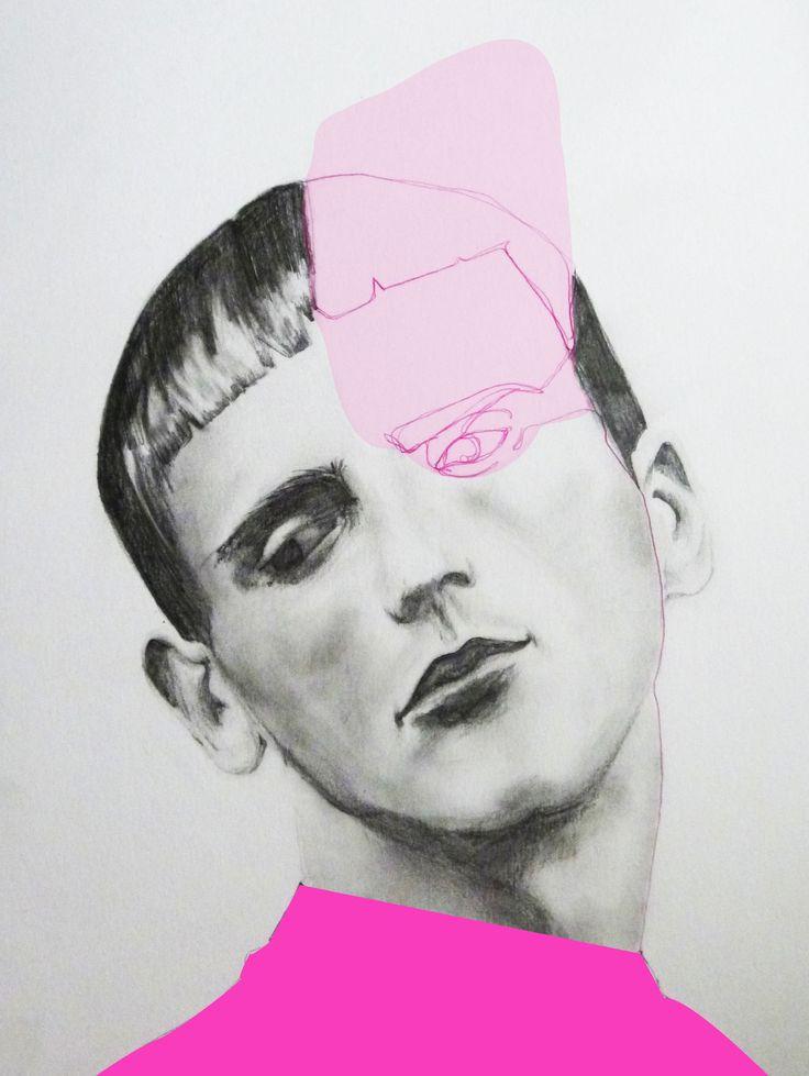 Mixed media; pencil, pen, digital illustration