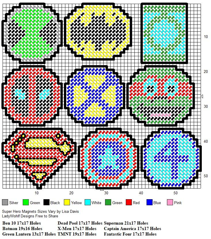 Super Hero Magnets