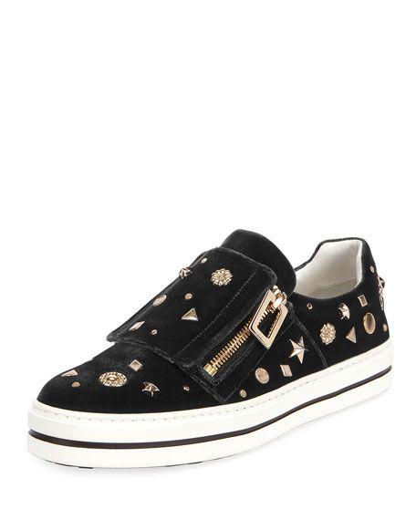 Sneaky Viv Astre Studded Sneaker, Black ROGER VIVIER