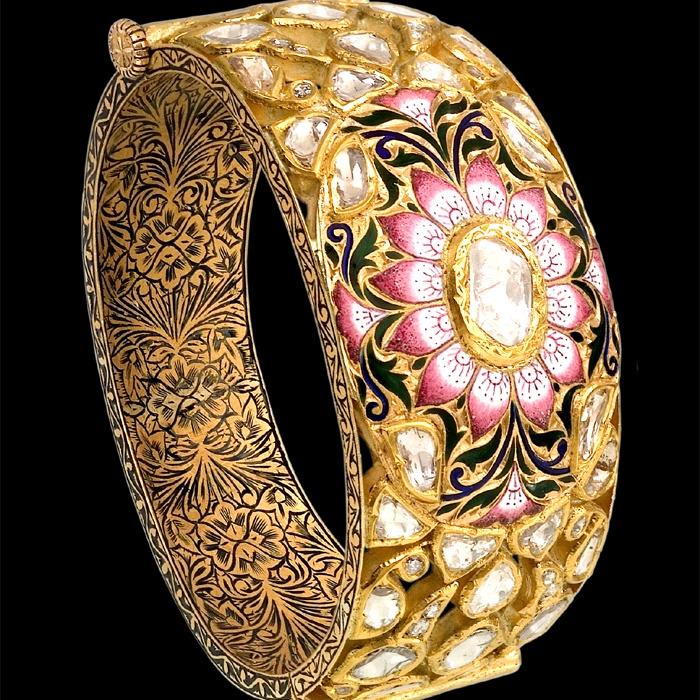Pink enamel Bangle
