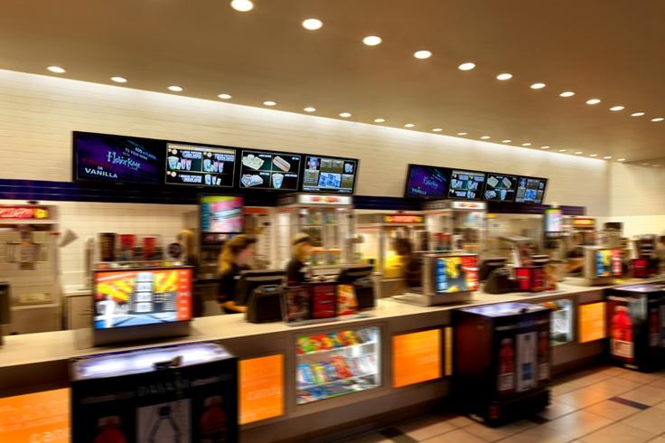 Menuboards at Rave Cinema, Las Vegas.