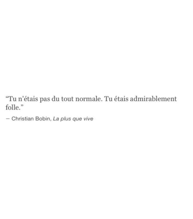 Admirablement folle ~~