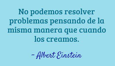 No podemos resolver problemas pensando de la misma manera que cuando los creamos. Albert Einstein #Frases  http://formulasparaganardinero.com/como-enfrentar-la-crisis-segun-albert-einstein-y-15-frases-aplicables-para-emprendedores/
