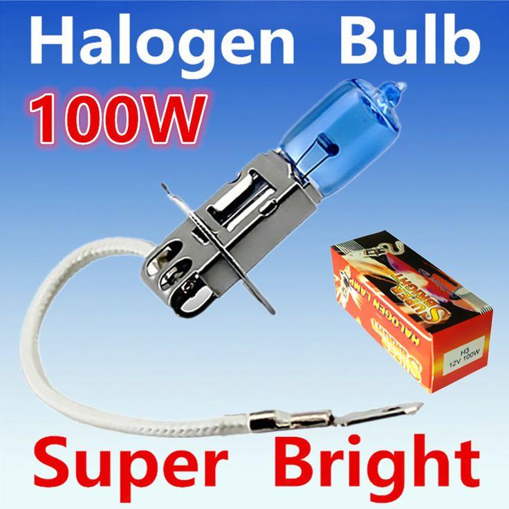 2 unids H3 100 W 12 V Bombilla Halógena Super Xenon Blanco Niebla Fuente de Luz de la Lámpara Del Coche luces de Alta Potencia de la Linterna Del Coche 6000 K aparcamiento