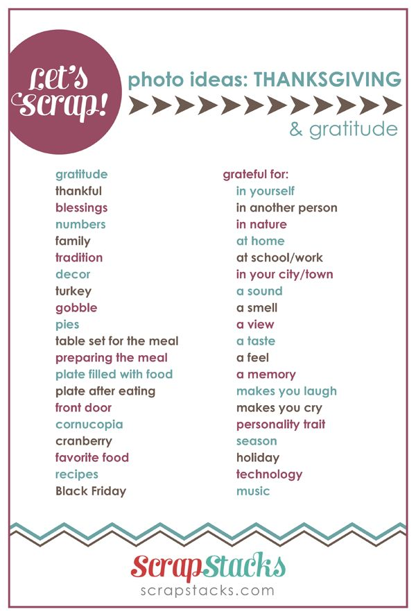 thanksgiving & gratitude page title ideas for scrapbooking from scrap stacks