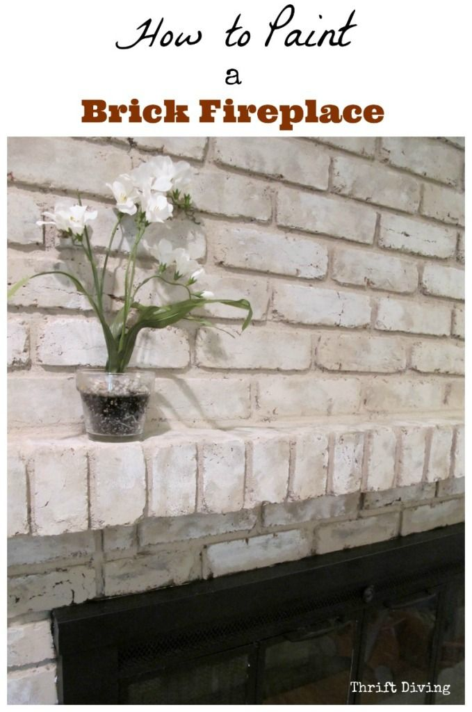 How to paint a brick fireplace (with step-by-step instructions, with video!) It will still look like brick, too!