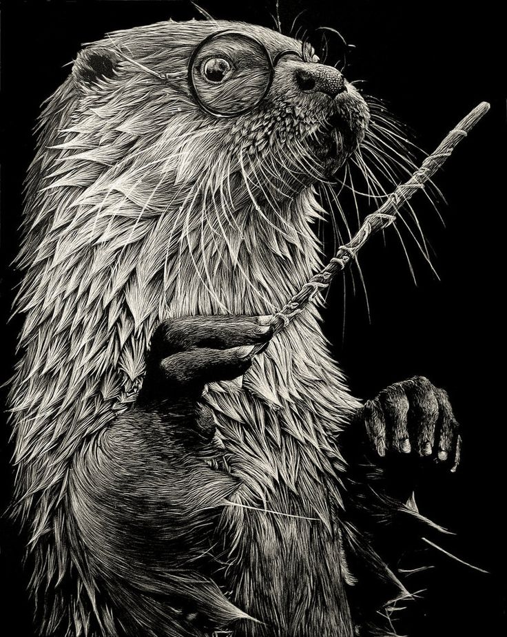 Okay, this is my new absolute favorite. So clever and incredible talent! Harry Otter by rainyXskyz on deviantART