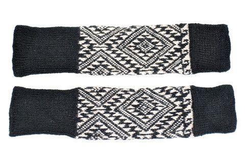 Unisex Black/Ivory Tribal Legwarmers