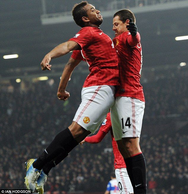 Anderson and Hernandez celebrate in style after United go two goals up
