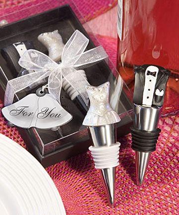 Bride and Groom Wine Stopper Set.