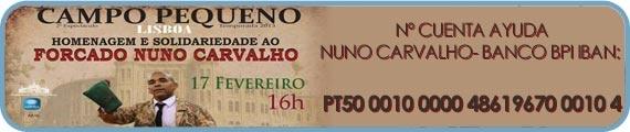 Festival en Campo Pequeno (Lisboa). Para ayudar a Nuno Carvalho-Banco.  Con un 30% de descuento  - Tauroentrada.com