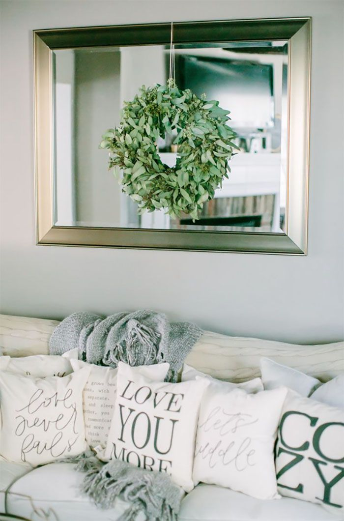 Bring more depth and light into your living room with for Large framed mirrors for living room