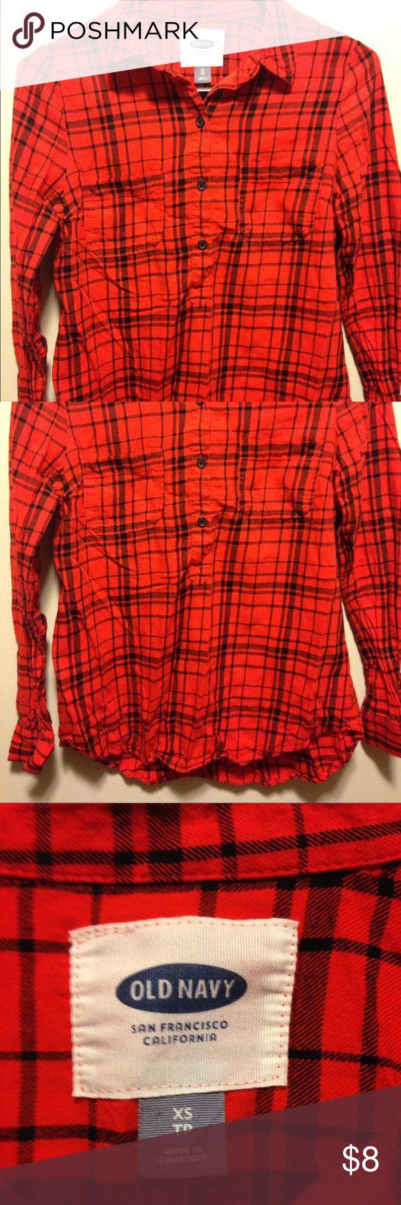 Selling this Plaid flannel on Poshmark! My username is: letsgoretro. #shopmycloset #poshmark #fashion #shopping #style #forsale #Old Navy #Tops