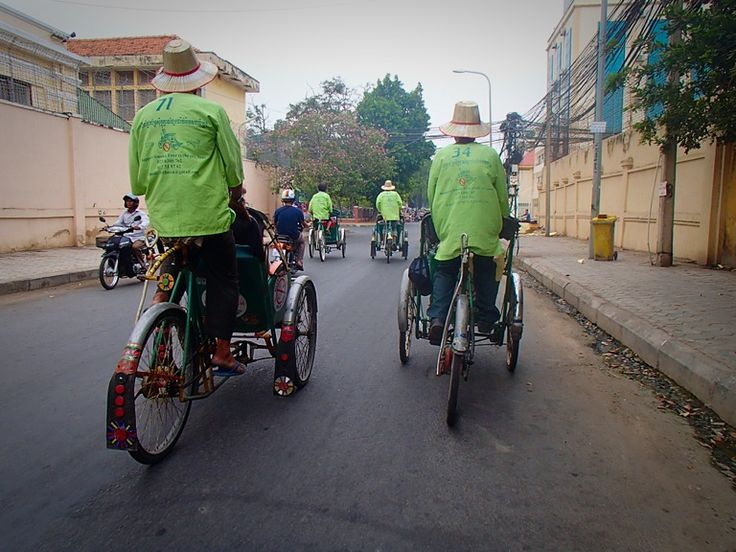 Sight seeing by cyclo - Phnom Penh, Cambodia