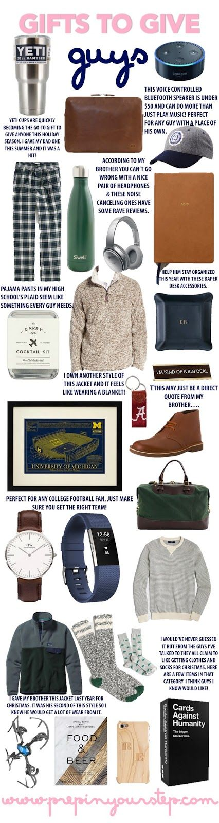 The hardest people for me to shop for when it comes to gifts are most certainly guys. When asked what they would like I don't feel like the...