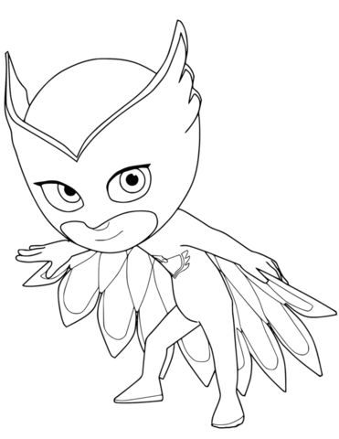 Owlette from PJ Masks Coloring page in 2020 | Pj masks ...