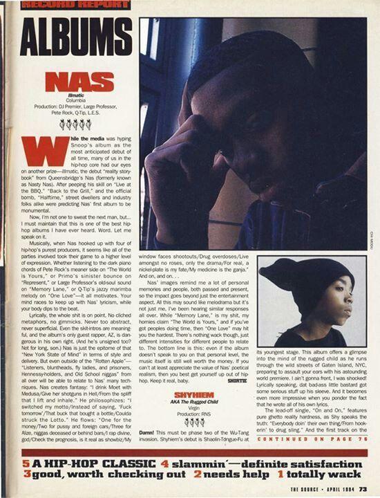 NAS: ILLMATIC  A Classic '5 mics' Album  The Source Magazine