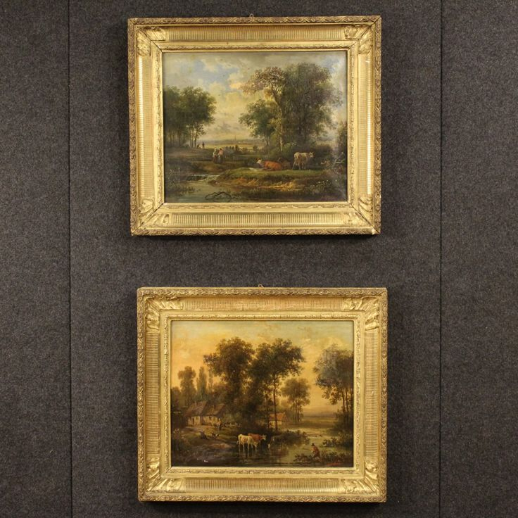 1600€ Antique pair of French paintings of the 19th century oil on canvas. Visit our website www.parino.it #antiques #antiquariato #painting #art #antiquities #antiquario #canvas #oiloncanvas #landscape #quadro #dipinto #arte #tela #decorative #interiordesign #homedecoration #antiqueshop #antiquestore
